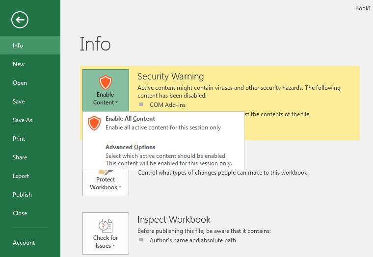 Security Warning Details